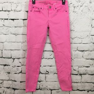 J Crew toothpick ankle jeans with zippers